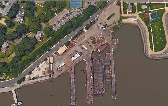 The proposed site of the Hoboken dry dock.   cr. hobokennj.gov