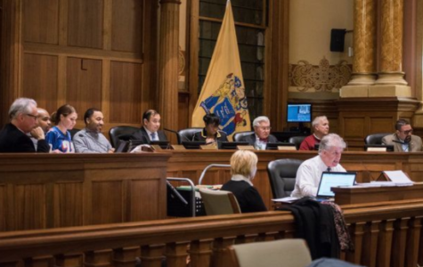 Anna & Anthony R. Cucci Memorial Council Chamber at the Jersey City city hall